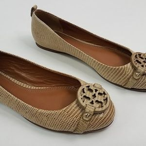 NEW Tory Burch Mini Miller Flats Trench Tan 7